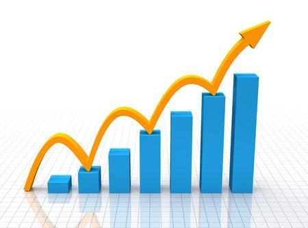 verhogen: Snelle groei  Stockfoto