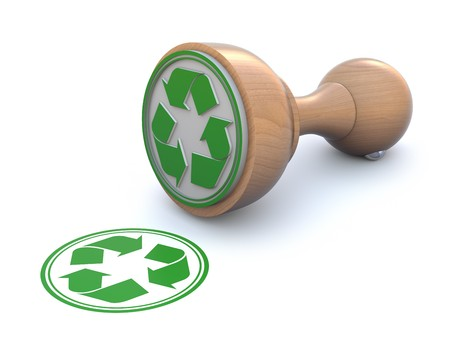 Rubber stamp-recyclable Stock Photo - 7616121
