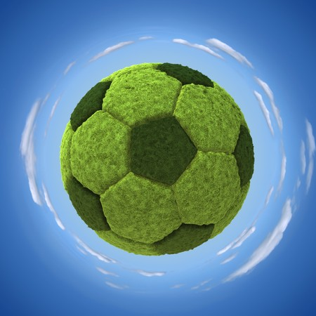Grassy soccerball photo
