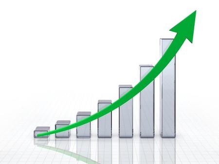 Glassy grafiek  Stockfoto