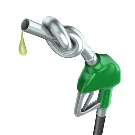 benzine: Gas pump nozzle with knot