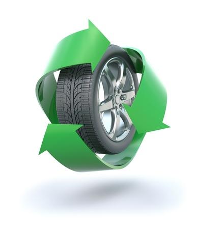 Neum�ticos reciclado Foto de archivo - 8376158
