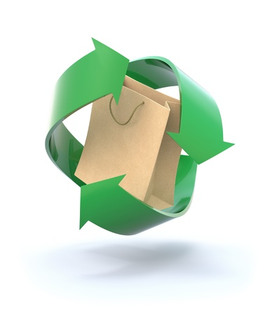 Recycled Shopping Bag Stock Photo - 8828505