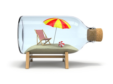 penury: Vacation in the bottle Stock Photo