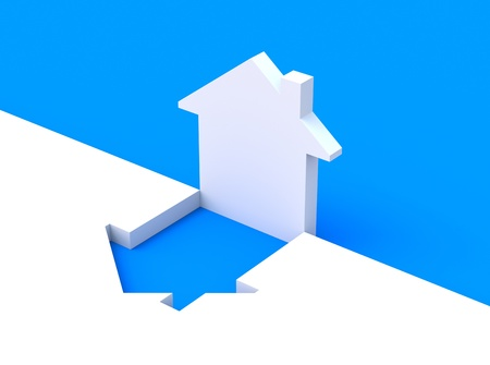 Concept with house shape Stock Photo - 8920381