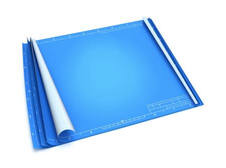 Empty blueprint photo