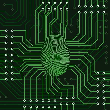 surveillance: Fingerprint concept