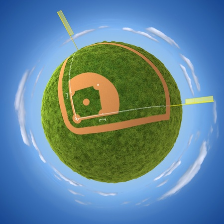 sphere base: Baseball field