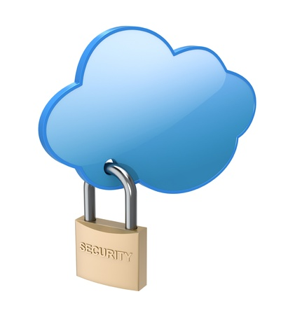 social security: Cloud computing concept Stock Photo