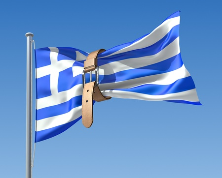 Greek crisis (3D concept) photo