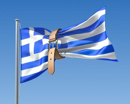 financial crisis: Greek crisis (3D concept) Stock Photo