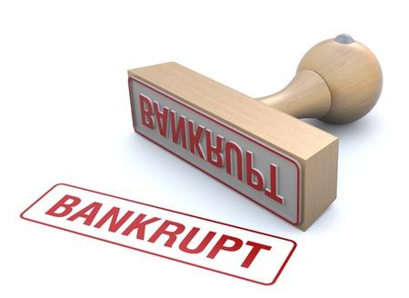 bankrupt: Bankrupt rubber stamp Stock Photo