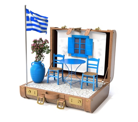 greek flag: Holiday in Greece
