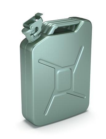 petrol can: Gasoline jerrican Stock Photo