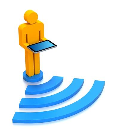 wifi icon: WiFi concept Stock Photo