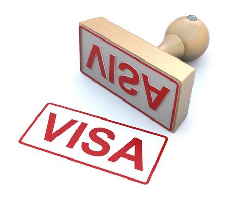pasaporte: Sello de goma - Visa Foto de archivo