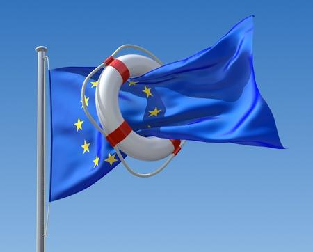 lifebouy: EU crisis concept