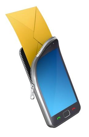 Phone with envelope photo