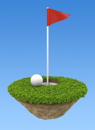 Golf terrain Stock Photo - 11959867