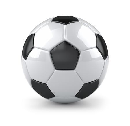 balon soccer: Brillante balón de fútbol
