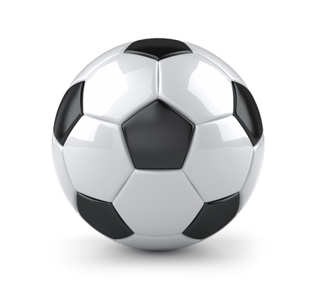 3d ball: Glossy soccer ball Stock Photo