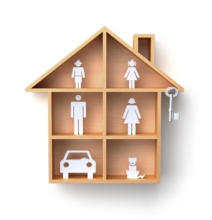 wooden shelves: Full house