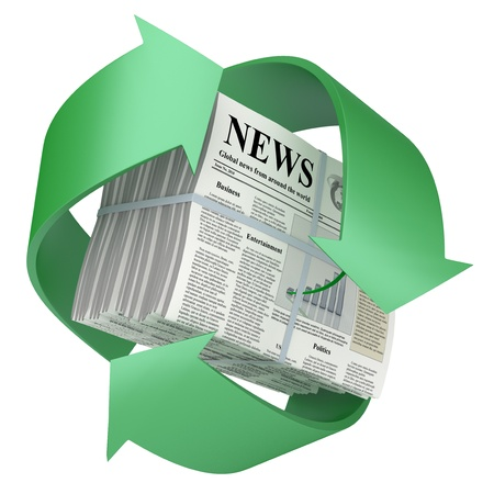 Recycled newspaper. Stock Photo - 12409533