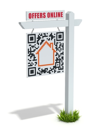 home for sale: 3D web advertising concept