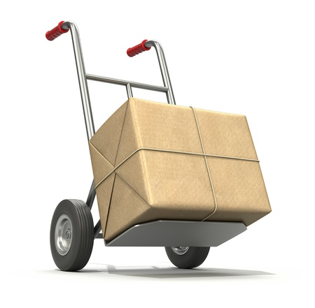 hand truck: Hand truck with post package