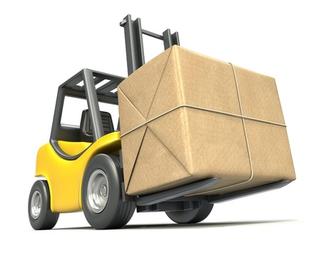 Forklift with post package photo