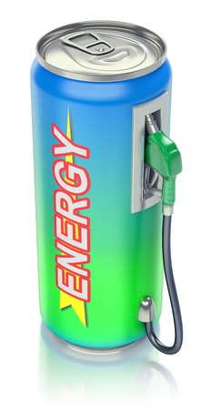 drink can: Energy drink concept