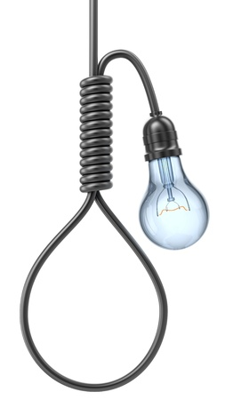 gallows: Bulb with noose