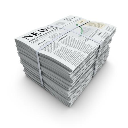 신문 스택 스톡 콘텐츠