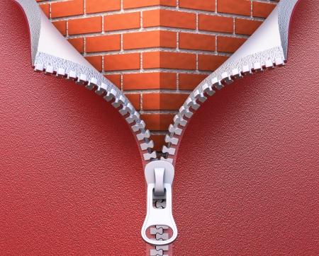壁断熱材の概念 写真素材
