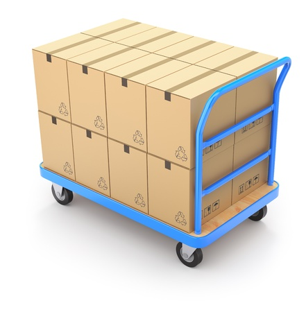 Trolley with boxes Stock Photo - 18498168