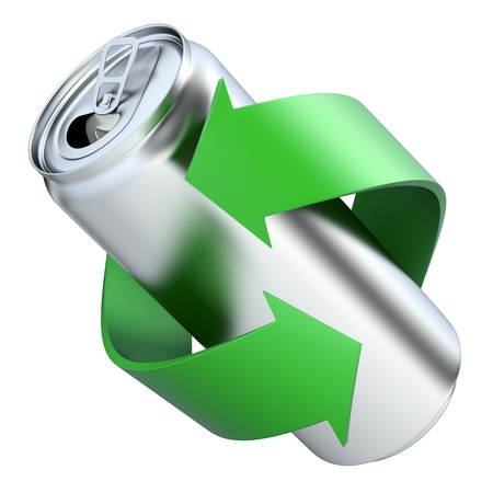 Recycling concept with drink can Stock Photo - 19737125