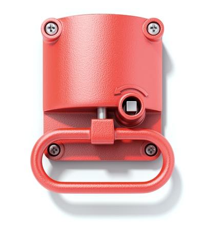 Emergency hand brake Stock Photo