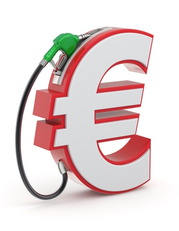 nozzle: Euro sign with gas nozzle