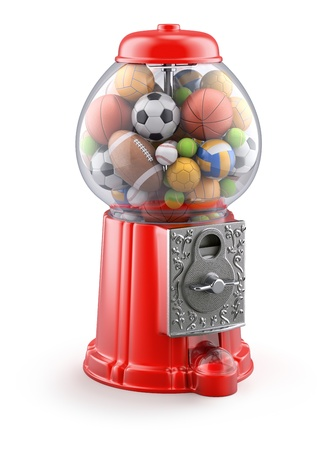 gumball: Gumball machine with sport balls Stock Photo