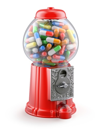 gumball: Gumball machine with pills