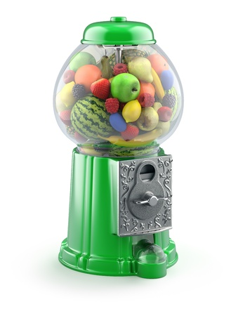 gumball: Fruits in the gumball machine