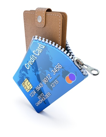 e wallet: Wallet in the credit card