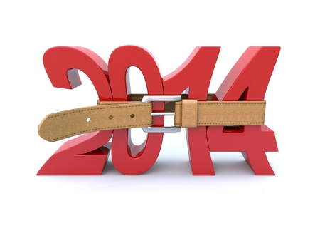 financial year: Crisis in 2014 Stock Photo