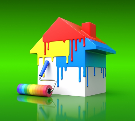 wheel house: House paint concept Stock Photo