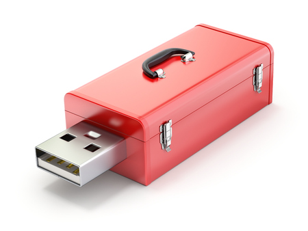 Toolbox with USB plug