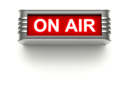 radio station: ON AIR sign Stock Photo