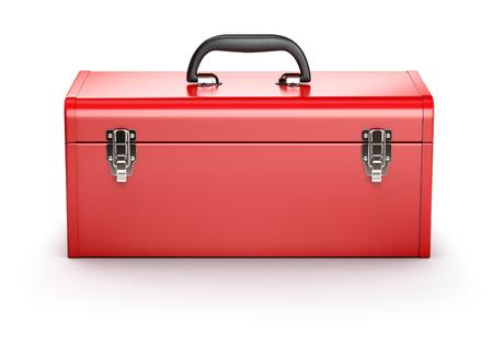 赤のツールボックス 写真素材