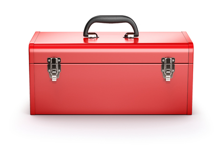 tool boxes: Red toolbox