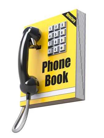 teclado numerico: Guía telefónica concepto Foto de archivo
