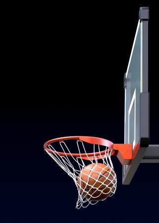 バスケット ボールのショット 写真素材